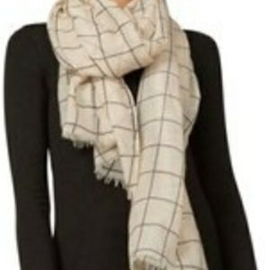 Rachel Pally cream grid scarf